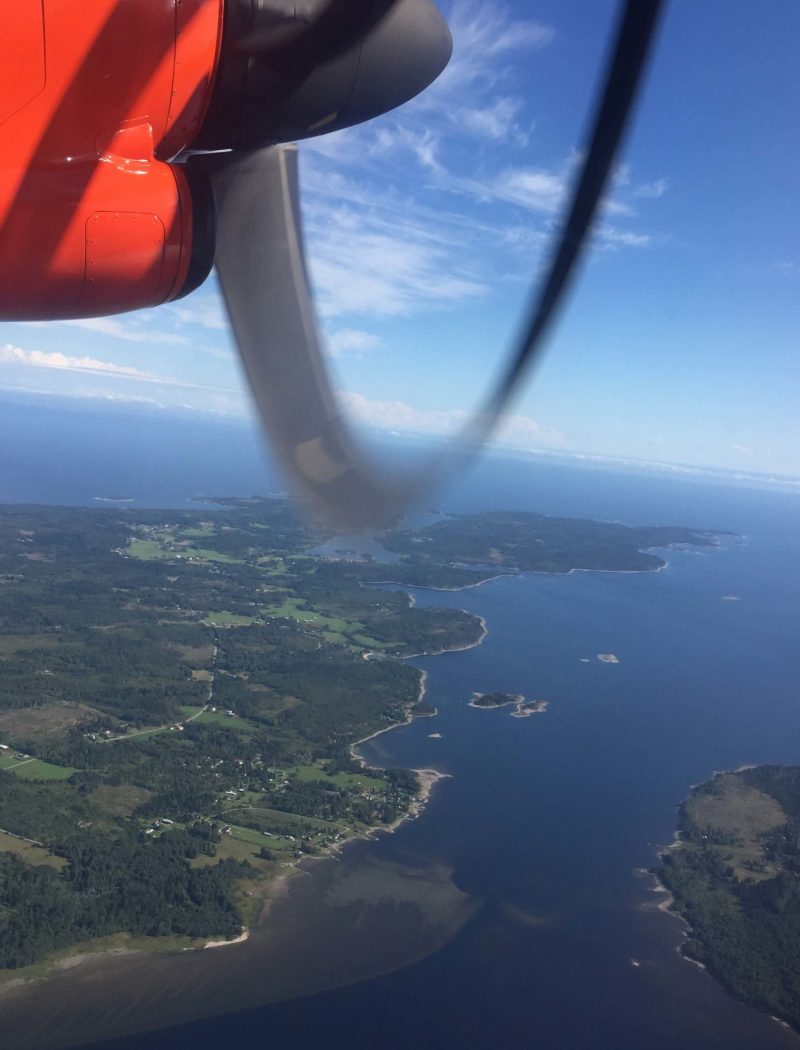 Flying over the Islands